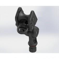 Усиленный поворотно-наклонный рым-ролик для якоря до 20 кг с направляющим кольцом для фала