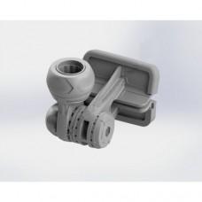 Замок компактный  для аксессуаров в комплекте с монтажной площадкой для установки на ликтрос надувной лодки ПВХ (Выбор цвета)