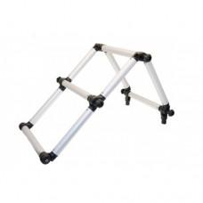 Лестница складная из алюминиевой трубы Ø 32 мм (Выбор цвета)