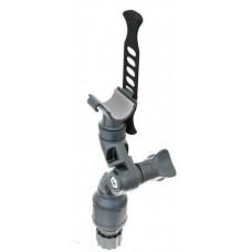 Держатель с  поворотно-наклонным механизмом и эластичным накидным фиксатором  для фиксации предметов в диаметре до 30 мм
