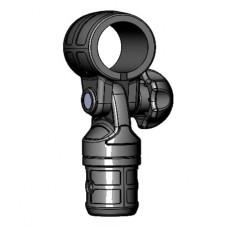 Пластиковое поворотно-наклонное соединение с хомутом для труб  Ø32мм (Выбор цвета)