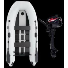 Комплект лодка Jetmar 3м  + мотор T4 (Выбор цвета лодки)