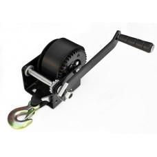 Лебедка для прицепа с лентой и крюком 800lbs черная 702019