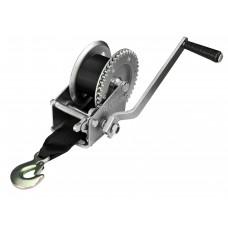 Лебедка для прицепа с лентой и крюком 1200lbs оцинкованная 702021