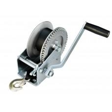 Лебедка для прицепа с лентой и крюком 1400lbs оцинкованная 702022