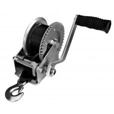 Лебедка для прицепа с лентой и крюком УСИЛЕННАЯ 1000lbs оцинкованная 702061Z