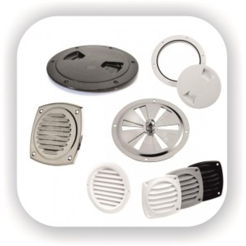 Инспекционные лючки квадратные и круглые, решетки вентиляционные нержавейка и пластик