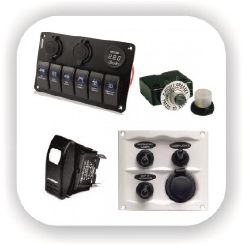 Панели управления, кнопки, предохранители, переключатели