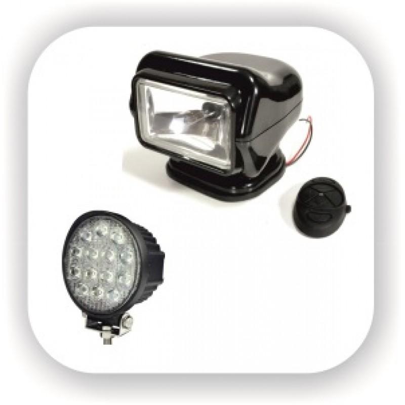 Прожекторы светодиодные, галоген и ксенон. С комбинированным управлением и проводным пультом и аксессуары к ним.