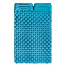 Двойной надувной матрац с подушками Nature Hike ULTRALIGH TPU 185x115x5см. Вес 965гр, синий