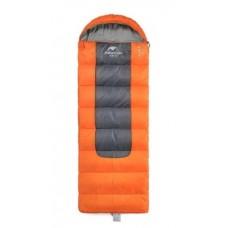 Спальный мешок с капюшоном Nature Hike F400 (200+30) х 90 см,  вес 2,3 кг, 0-8℃ оранжевый