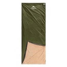 Спальный мешок Nature Nike LE220 коралловый бархат 190×75см, вес 0,87кг, 8-15℃ зеленый