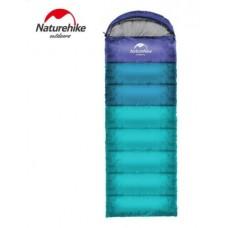 Спальный мешок с капюшоном Nature Hike U150 (190+30)x75см, вес 1,1кг, 5-10℃ синий