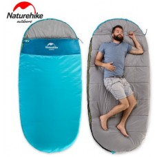 Спальный мешок Nature Hike PAD300 овальной формы (200+30)*100см вес 1,9кг, 5-10℃ синий