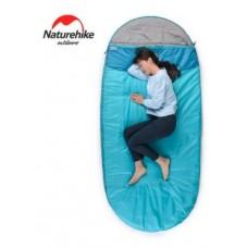 Спальный мешок Nature Hike PAD200 овальной формы (200+30)*100см вес 1,6кг, 8-15℃ синий