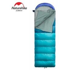 Спальный мешок с капюшоном Nature Hike U350 с фибер подкладкой (190+30)x75см, вес 1,7кг, 0-5℃ (Выбор цвета)