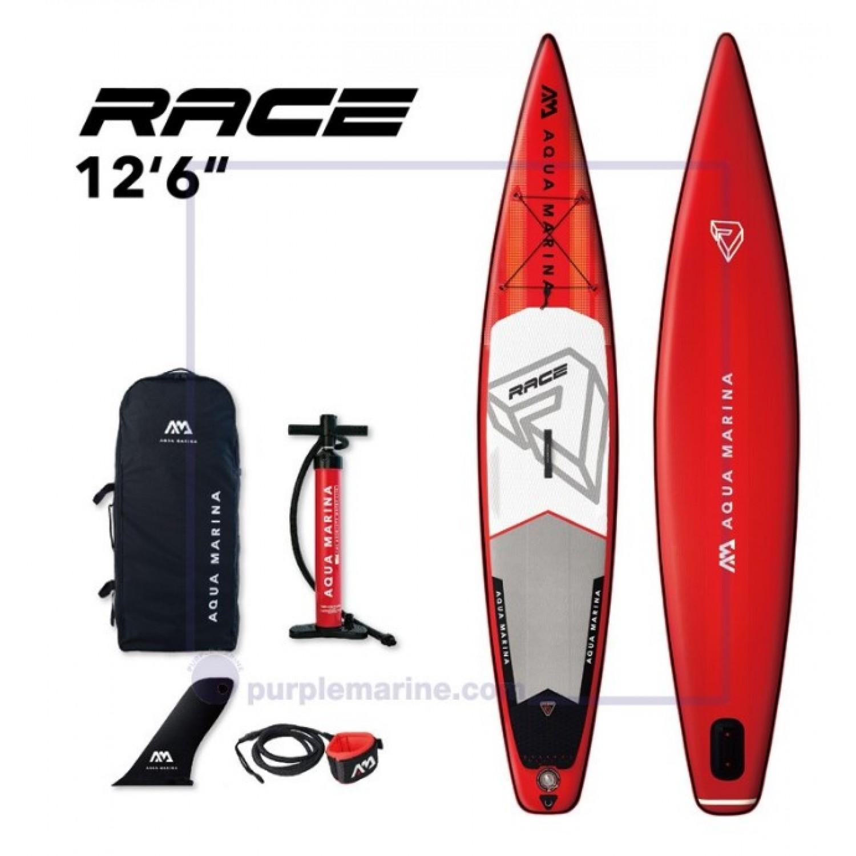 Доска SUP Aqua-Marina Race-Racing iSUP, 3.81м/15см
